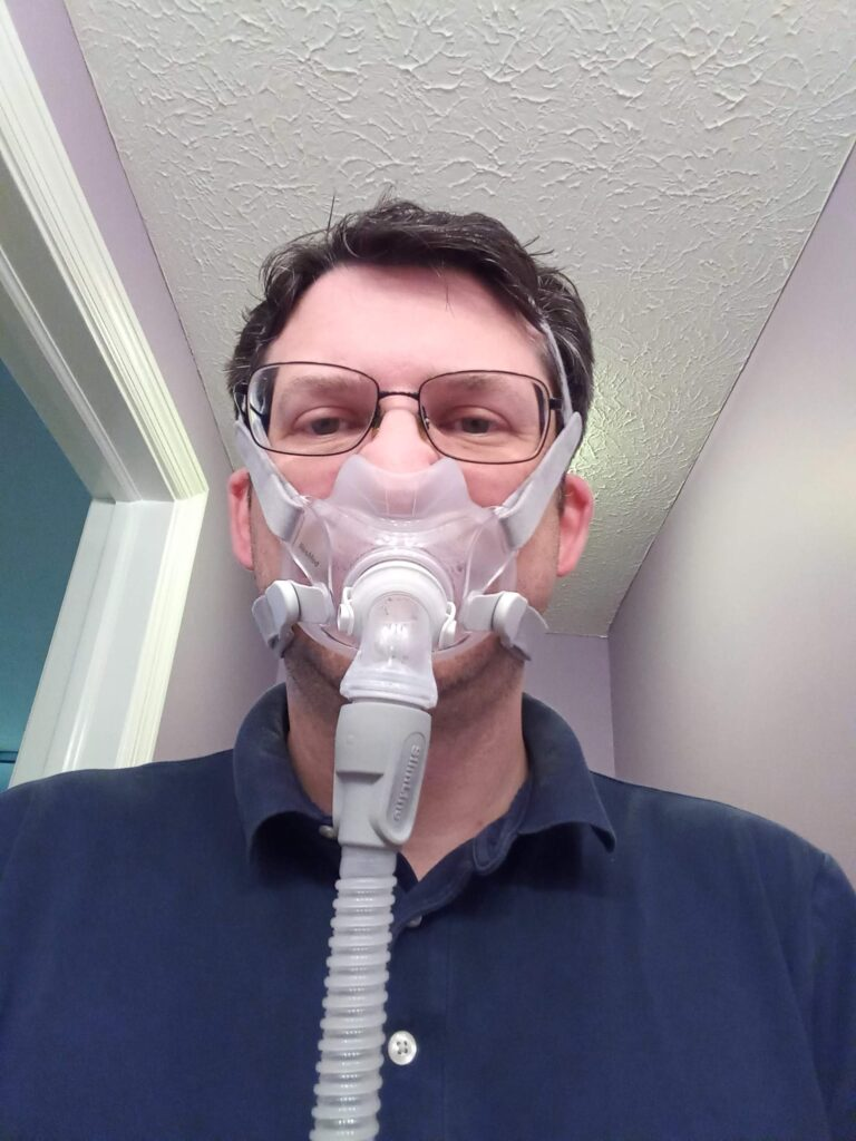 Dr F in a mask