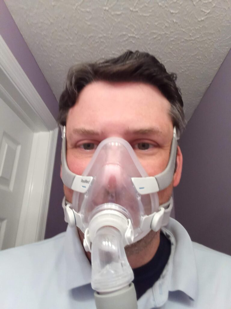 Dr. F in a mask